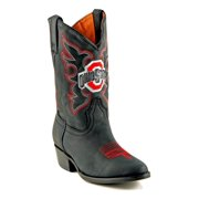 Gameday Boys Honey Leather Ohio State Embroidered Western Cowboy Boots
