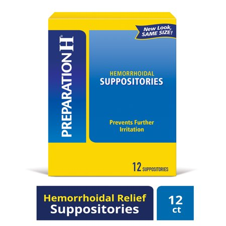 Prep H Suppos Size 12s Preparation H Prep H Suppos (New) (Best Medicine For Uti)