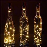 BULK PACK (3) Fantado 20-LED Warm White Cork Wine Bottle Lamp Fairy String Light Stopper, 38-Inch by PaperLanternStore