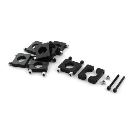 8 Pcs 12mm Black Aluminum Clamp for Carbon Fiber Tube RC Quadcopter Hexrcopter (Quadcopter Carbon Fiber Frame)