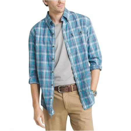 G.H. Bass & Co. Mens Madawaska Ls Button Up Shirt Cotton Business Men Casual Shirt