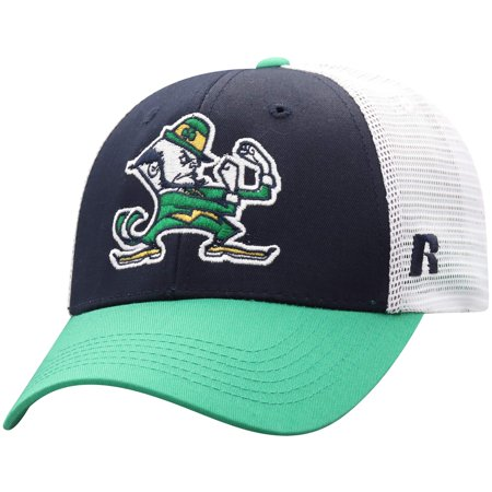Men's Russell Navy/White Notre Dame Fighting Irish Steadfast Snapback Adjustable Hat - OSFA