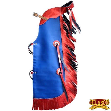 - Hilason Pro Rodeo Bull Riding Chaps Leatther Kids Junior Youth