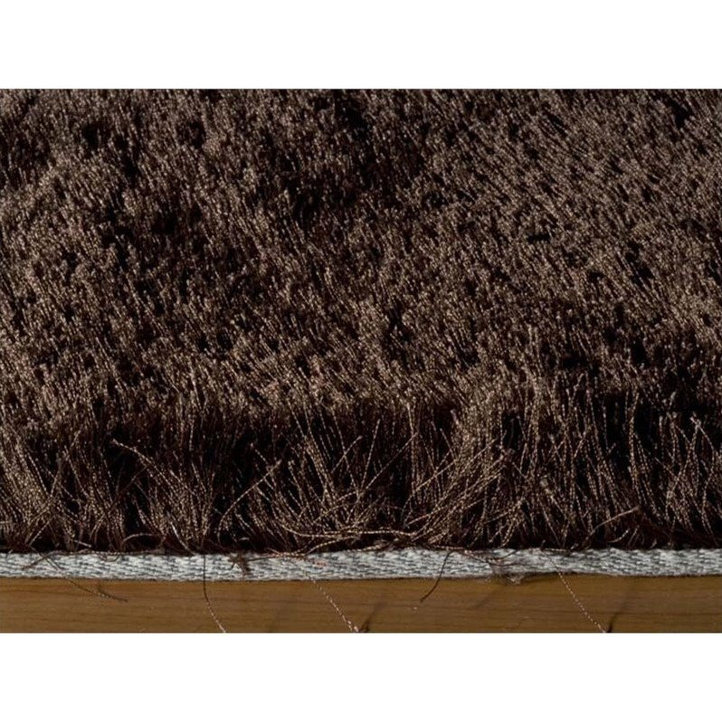 "Momeni Luster Shag 2'3"" X 8' Runner Rug in Brown - image 2 of 3"