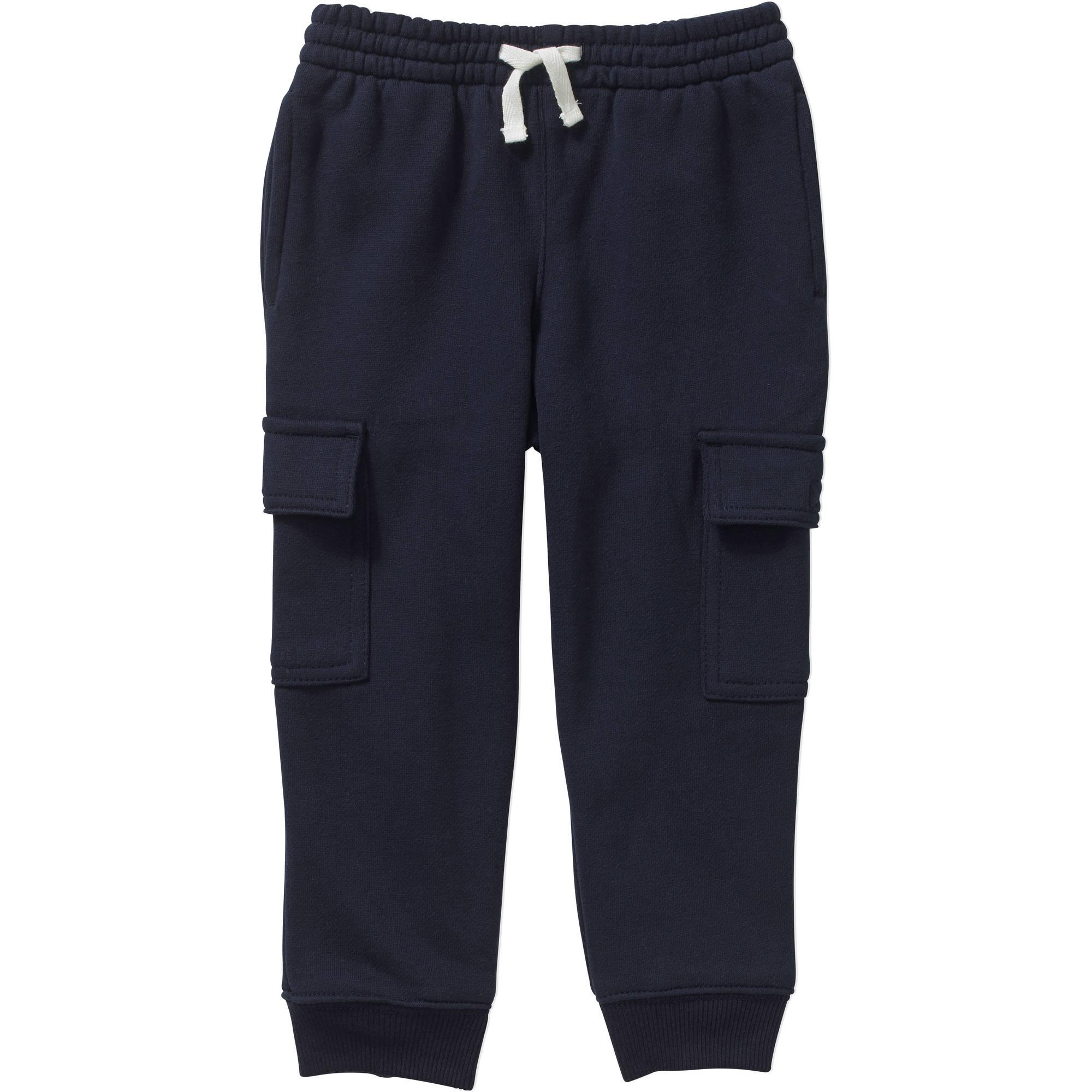 Healthtex Toddler Boys' Fleece Cargo Jogger Pants