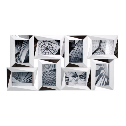 nexxt Design Mira 8 Piece Mirrored Wall Collage Photo Frame Set
