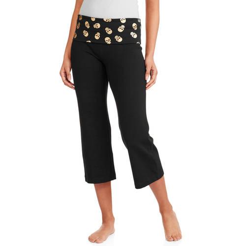 No Boundaries Juniors' Capri Yoga Pants - Walmart.com