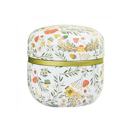 Topumt Double Layer Tinplate Tin Box Flower Tea Candy Box Jewelry Box Home Decorative Mini Metal Container Wedding