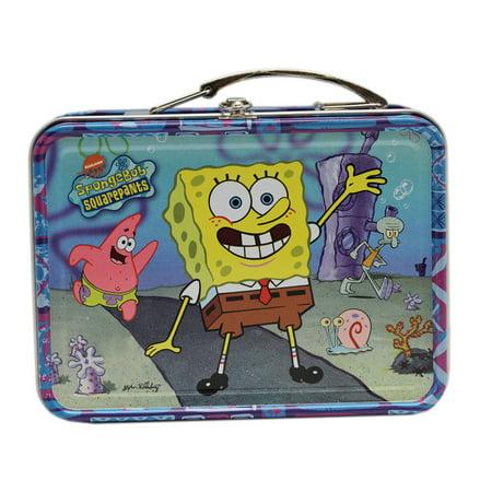 Spongebob Squarepants Tropical Color/Theme Mini Tin Treasure Storage Box (Spongebob Themes)