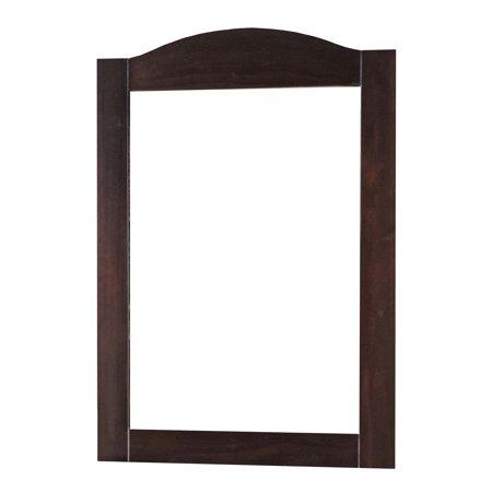 100% Solid Wood Frame Mirror 57106, Java Color