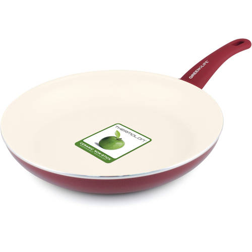 """GreenLife Soft Grip 12"""" Healthy Ceramic Non-Stick Open Frypan"""