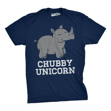 Mens Chubby Unicorn Tshirt Funny Cute Adorable Rhino Animal T shirt - Cute Chubby Teen