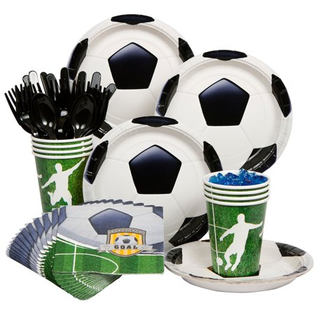 Soccer Party Standard Kit  Serves 8 Guests - Party Supplies (Soccer Party Decor)