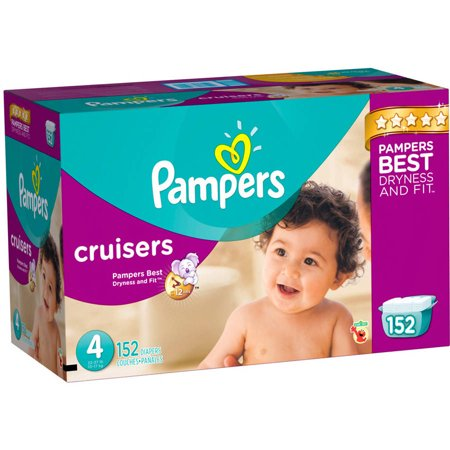 Pampers Cruisers Diapers, Size 4 (Choose Diaper Count)
