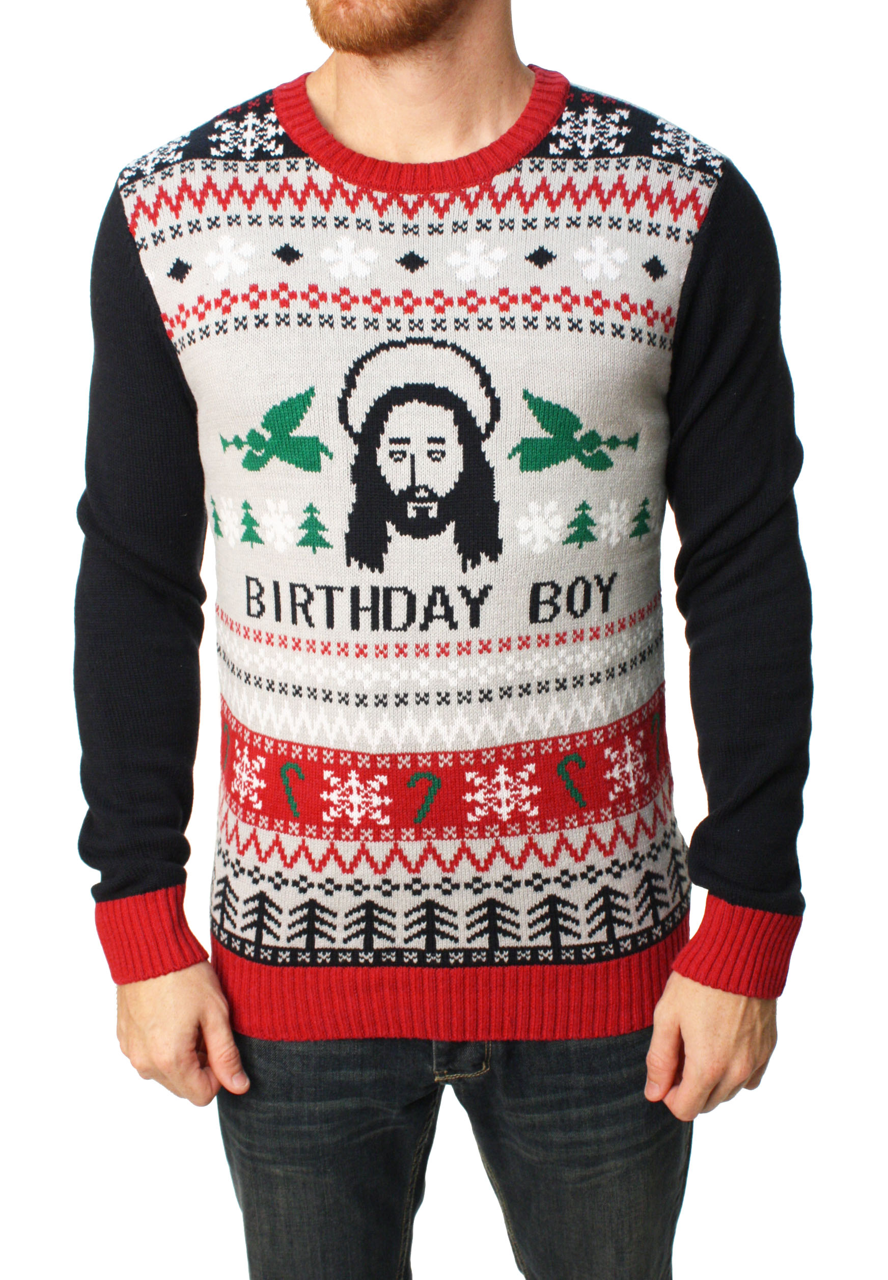 Ugly Christmas Sweater - Ugly Christmas Sweater Men\'s Jesus Birthday ...