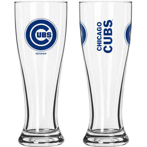 Boelter Brands MLB Chicago Cubs 2-Pack Gameday Pilsner Set