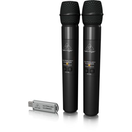 2.4 Ghz Wireless Receiver (Behringer Ultralink ULM202USB High-Performance 2.4 GHz Digital Wireless System with 2 Handheld Microphones and Dual-Mode USB)