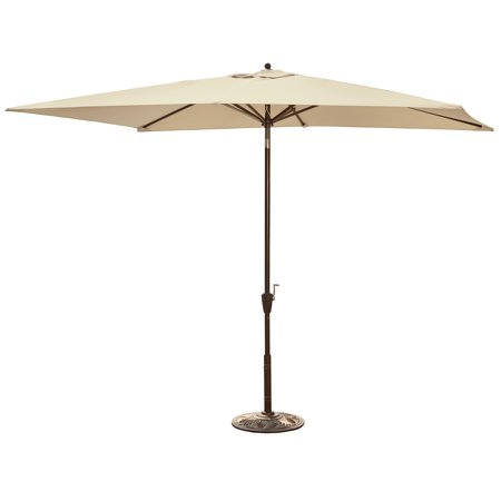 Island Umbrella Adriatic 6.5-ft x 10-ft Rectangular Market Umbrella in -