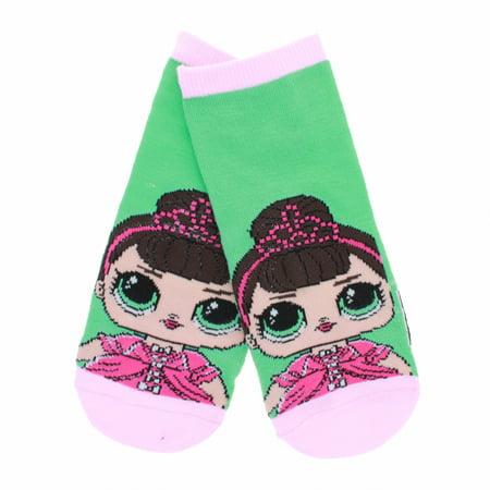LOL Surprise Girls Ankle Socks Size 6-8.5 Fits Shoe Size 7-3 - Green