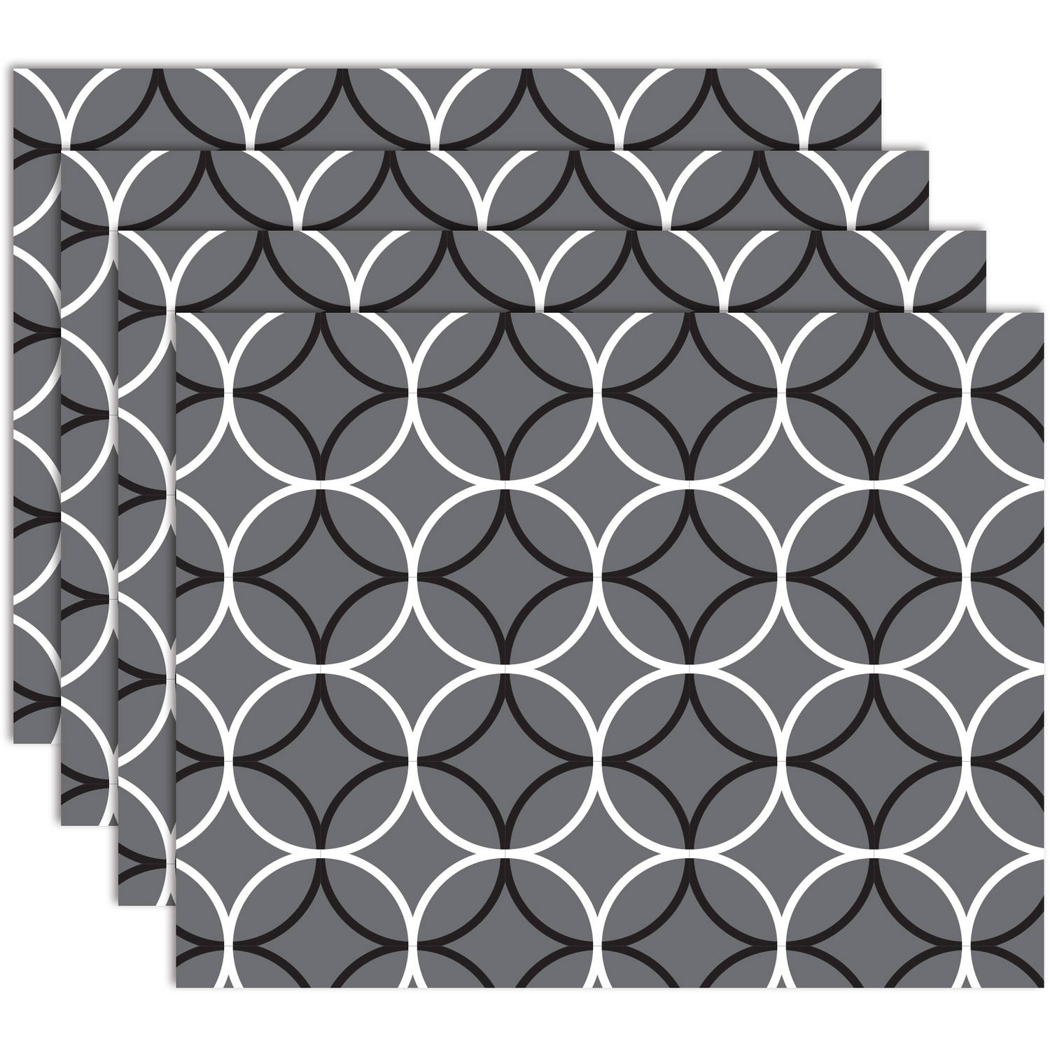 Hotel by Domay Circles Placemats, Set of 4, Multiple Colors Available by