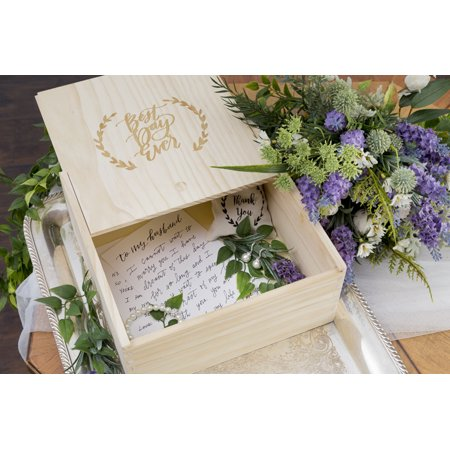David Tutera Unfinished Wood Keepsake Box: 10 x 10 inches