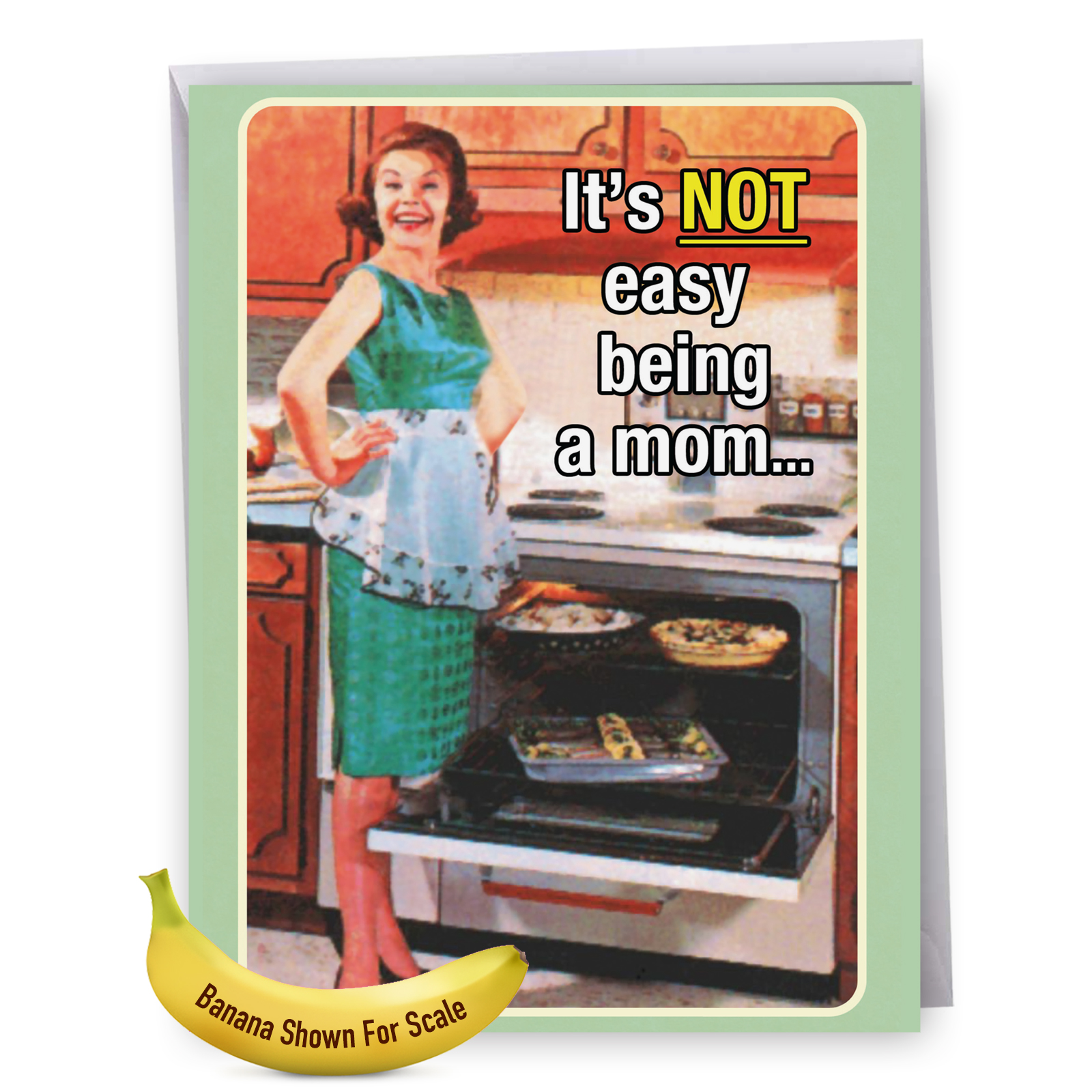 "J9856MDG Jumbo Hilarious Mother's Day Card: 'J9856MDG Funny: Motherhood Not Easy With Envelope (Ex...' with Envelope (Jumbo Size: 8.5"" x 11"")"