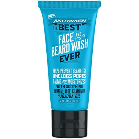 2 Pack Just For Men, The Best Face and Beard Wash Ever, 3.4 Fluid Ounces