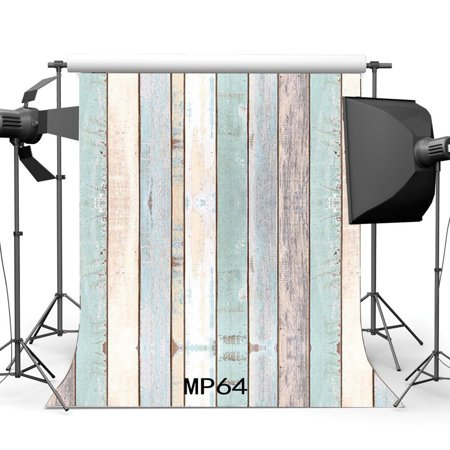 Shabby Chic Party Decorations (GreenDecor Polyster 5x7ft Wood Backdrop Peeling Multicolor Painted Stripe Wooden Plank Shabby Chic Texture Photography Background Baby Kids Adults Birthday Wedding Party Decoration Photo Studio)