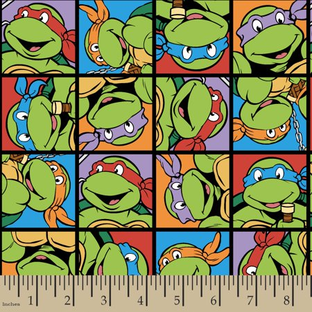 Madras Patch Fabric - Turtle Power Face Patch 18