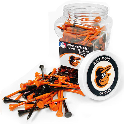 Team Golf MLB Baltimore Orioles Jar Of 175 Golf Tees