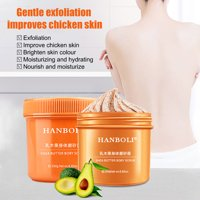 SUPERHOMUSE Shea Butter Body Scrub Exfoliating Moisturizing Remove Dead Skin Softens Skin Body Exfoliator Cream