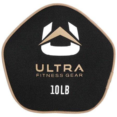 Ultra Fitness Gear Super Tough Fillable Neoprene Pancake Sandbag for Full Body Workouts (Unfilled), 10