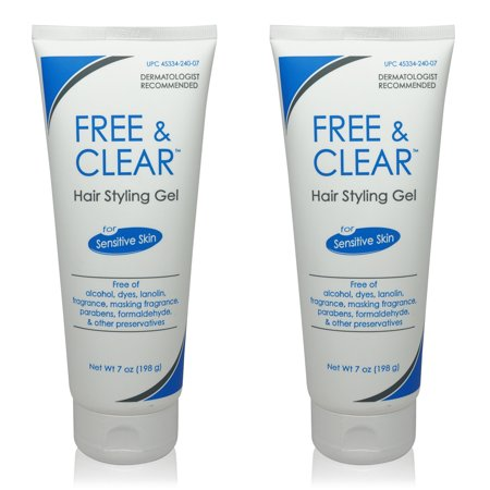 - Free & Clear Hair Styling Gel 7 Oz (Pack of 2)