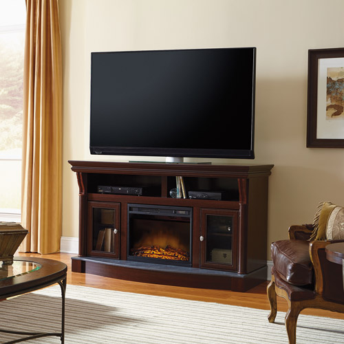 Sauder Palladia Electric Fireplace Media Console For TVs up to