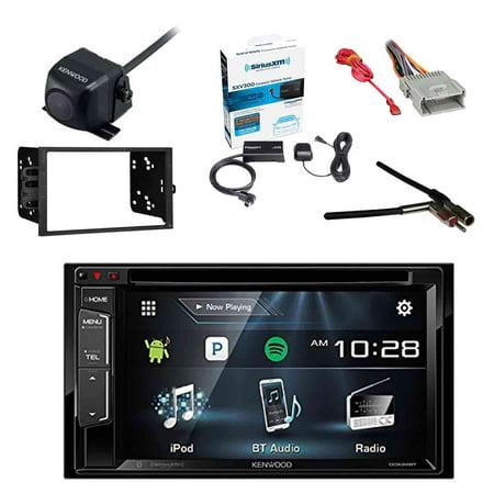 Kenwood Multimedia Receiver, BT w/Sirius Vehicle Radio Tuner, Kenwood Rearview Wide Angle View Backup Camera, Metra 2-DIN Installation Kit for Radio, Metra Antenna Adapter & Metra Radio Wiring