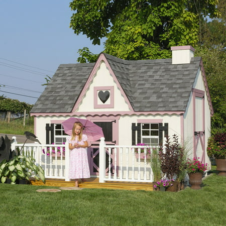 Little Cottage Victorian 8 X 8 Ft Wood Playhouse