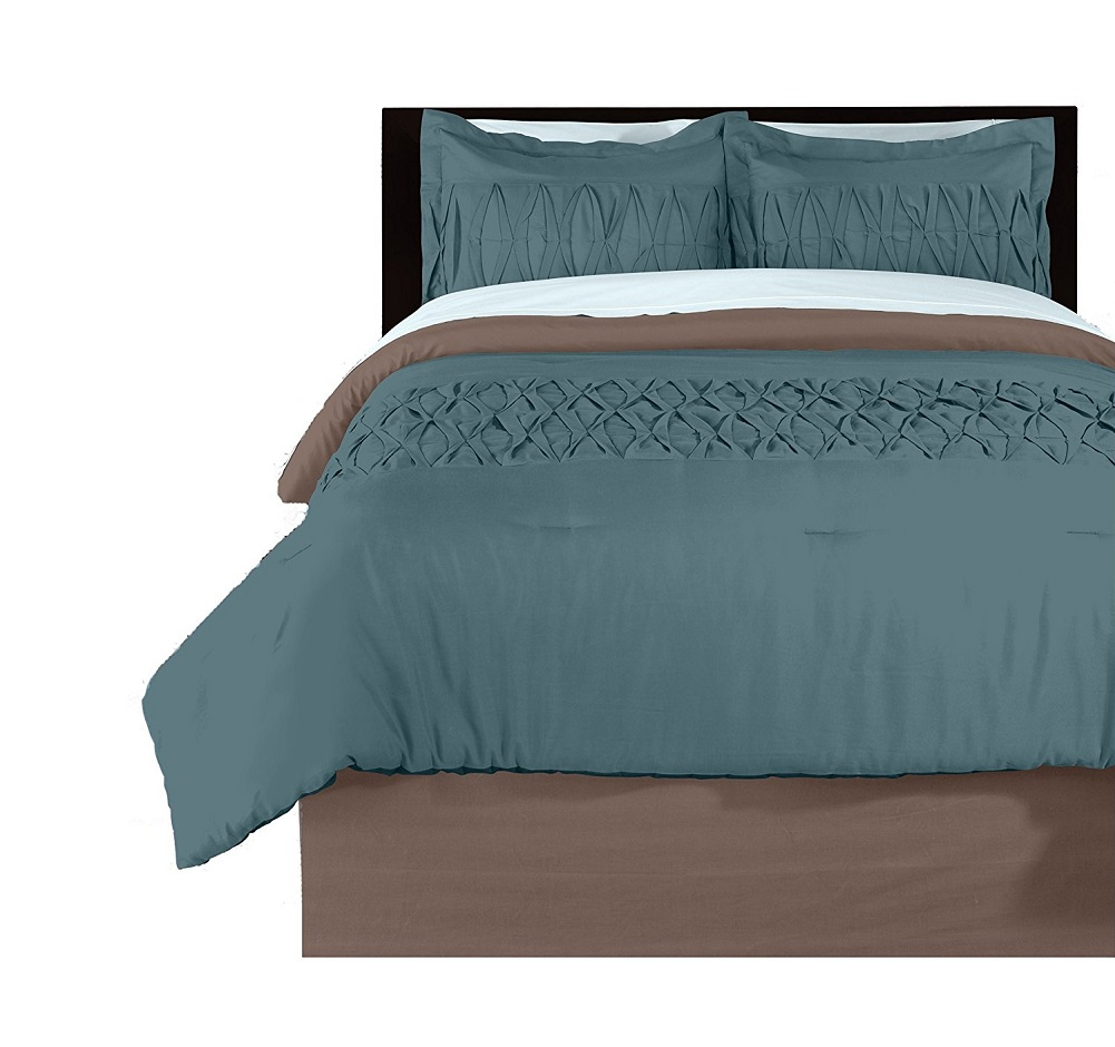 Beco Home Loop Butterfly Pleated Comforter Set Full//Queen