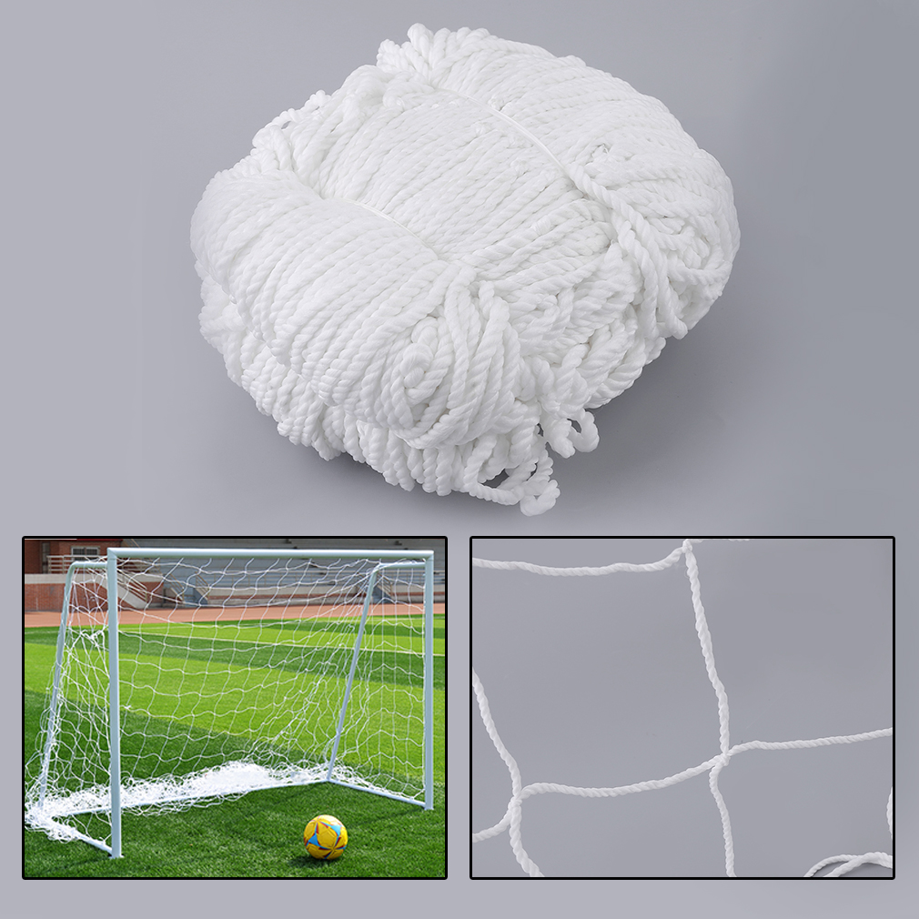 3mx2m Football Soccer Goal Post Net Sports Match Training Replacement White Polypropylene Cotton Blended Material