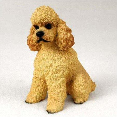 Poodle, Apricot, Sport Cut Original Dog Figurine (4in-5in), Each figurine is carefully hand painted for that extra bit of realism. By Conversation Concepts Ship from US