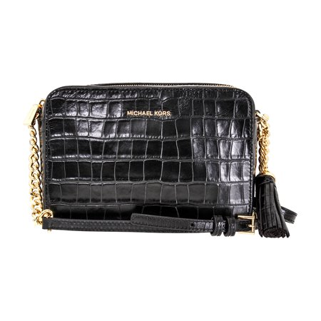 3d920bf7f4f2 Michael Kors - Ginny Embossed-Leather - Crossbody - Black - 32F7GGNM2E-001  - Walmart.com