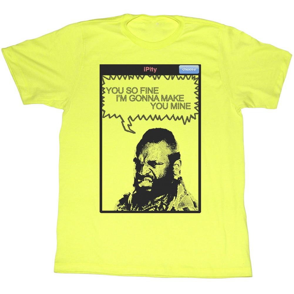 Mr. T 1980's Wrestler Boxer So Fine Make You Mine Adult T-Shirt Tee - image 1 de 1