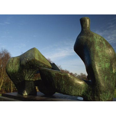 Henry Moore Sculpture Near Kenwood House on Hampstead Heath, North London, England, United Kingdom Print Wall Art By David Hughes ()