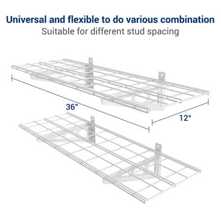 Fleximounts 2 pack 1x3ft 12 inch by 36 inch wall shelf garage fleximounts 2 pack 1x3ft 12 inch by 36 inch wall shelf ccuart Images