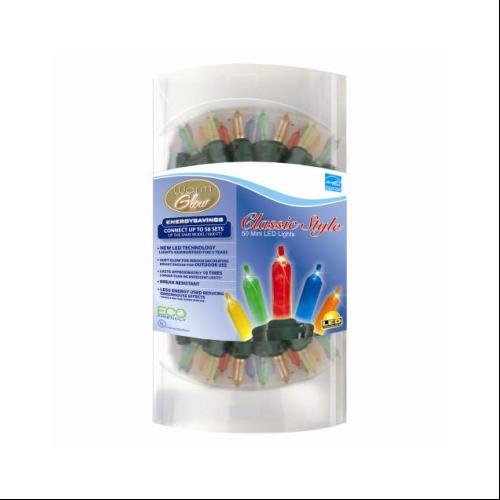 Set of 50 Multi-Color LED Mini Christmas Lights - Green Wire