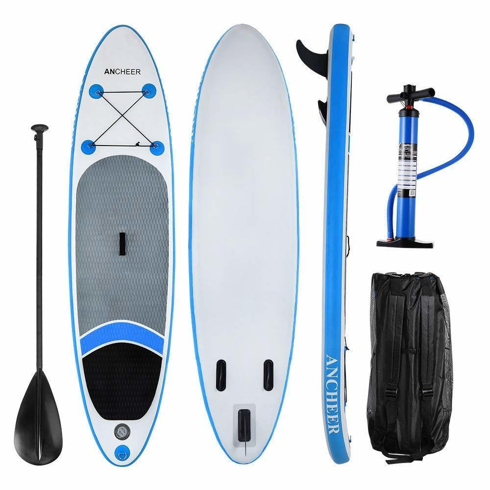 "Lowest price ever! 10'(6""Thick,32""wide) Inflatable Stand Up Paddle Board iSUP with Adjustable Paddle Backpack... by"