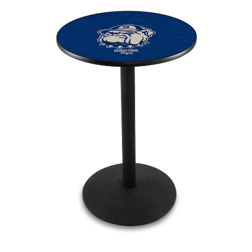 NCAA Pub Table by Holland Bar Stool, Black - Georgetown University, 36'' - L214