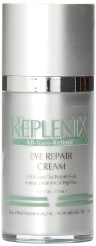 Replenix Eye Repair Cream 0.5 fl Ounce 20 Minute Miracle Eye Patches - 10 Patch(es) by BioMiracle (pack of 2)