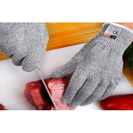 1 Pair Cut Resistant Gloves, Safety Work Glove, Good Performance Level 5 Protection Cuts Glove, Food Grade, Large Size - image 6 of 8