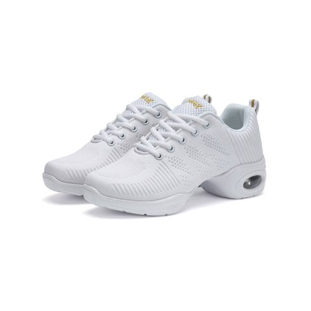 Women's Mesh Jazz Sneaker Shoes Lightweight Breathable Air Cushion Lady Girls Modern Split Sole Dance Shoes - Inflatable Shoes