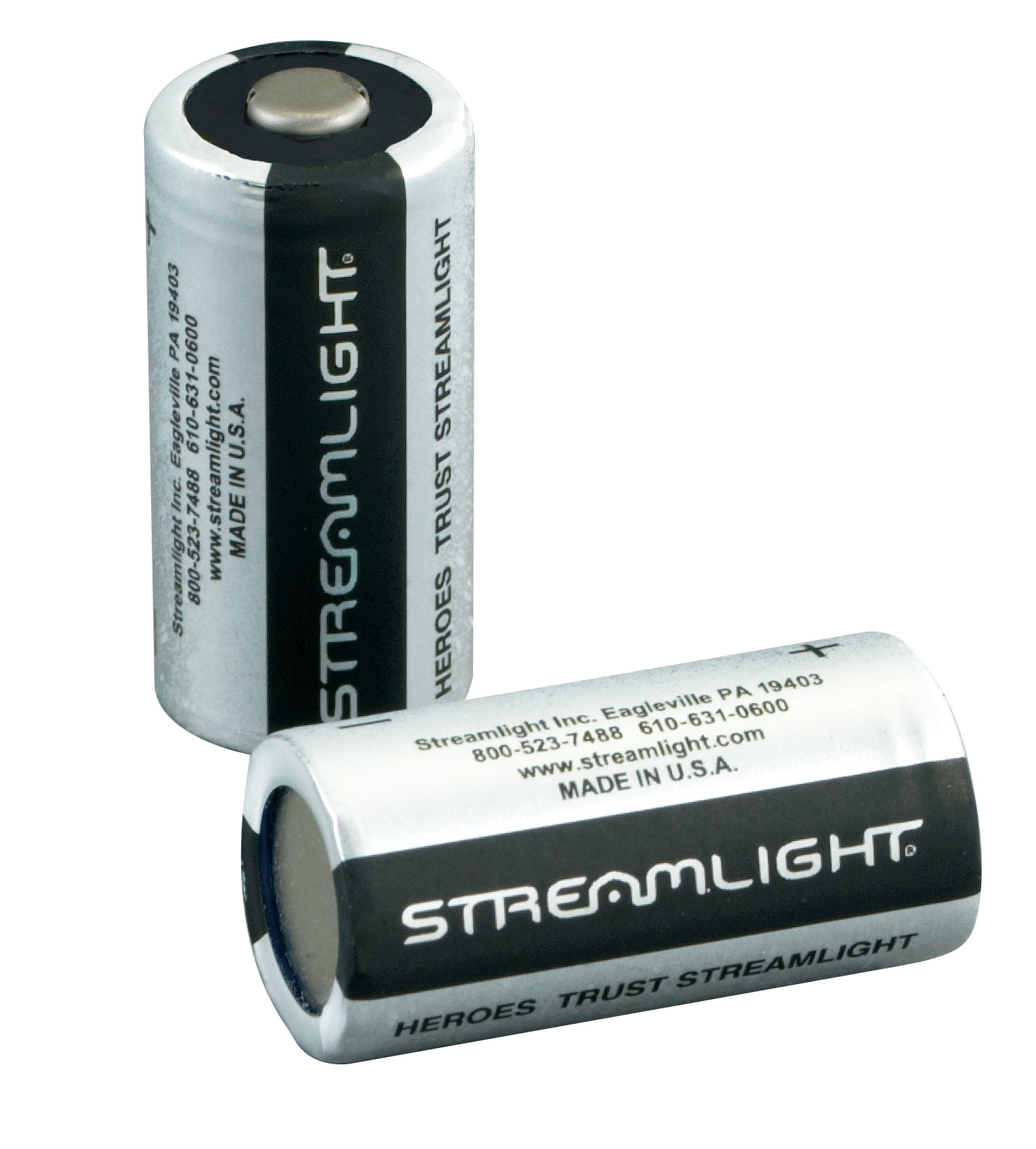 Streamlight CR123A 3V Lithium Batteries, 2 pack by Streamlight